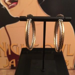 🌹AUTHENTIC DAVID YURMAN XLARGE CROSSOVER EARRINGS